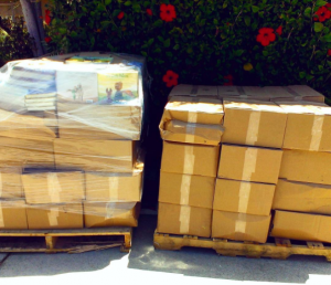Two pallets of books